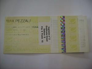 Biglietto intatto concerto 05/11/2005 Bologna