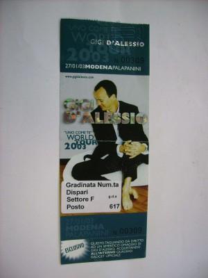 Ticket intatto Modena 27/01/03