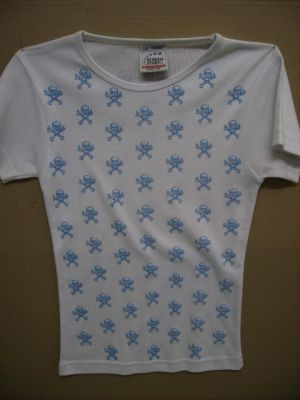 T-shirt teschietti blu