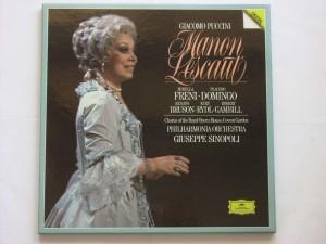 Manon Lescaut - Mirella Freni - Placido Domingo- Renato Bruson - Kurt Rydl - Robert Gambill, Chorus Of The Royal Opera House, Covent Garden,  Giuseppe Sinopoli - Philharmonia Orchestra (3LP)