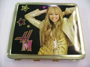 Hannah Montana Glam Rocker Metal Tin Pencils Set