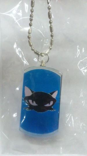 Gatto su piastrina trasparente
